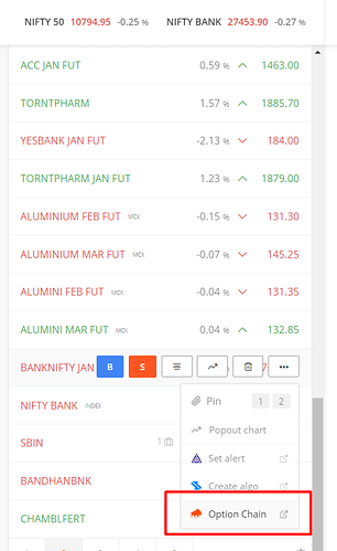 NSE real time option data - General - Trading Q&A by Zerodha