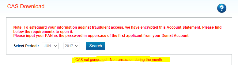 How to verify my Mutual funds Unit on CDSL website as every