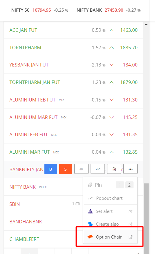 NSE real time option data - General - Trading Q&A by Zerodha - All