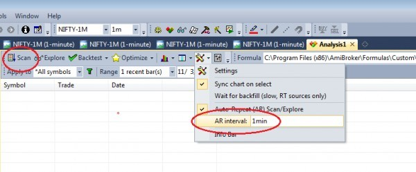 How to apply Multiple Scripts Scanning in Amibroker Explorer