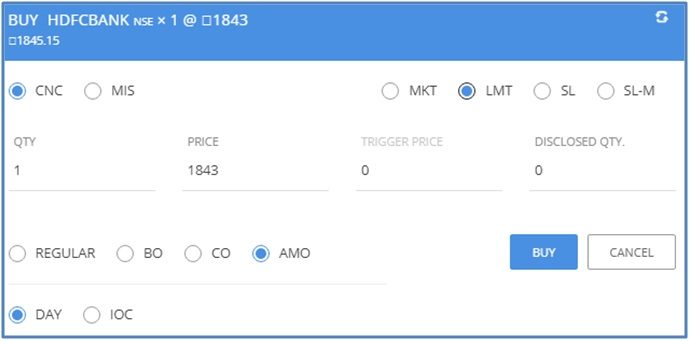 KITE TUTORIAL: HOW TO PLACE BUY OR SELL MKT, LMT, SL, SL-M, REGULAR